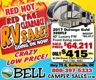 Red Hot Red Tag RV Clearance Sale - banner ad