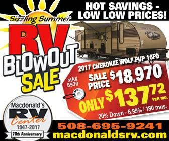Sizzling Summer RV Blowout Sale - banner ad
